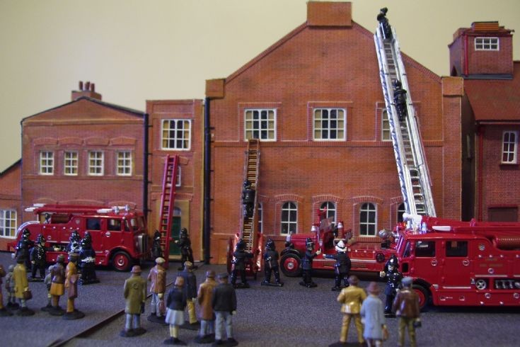 Action Diarama with the LFB.