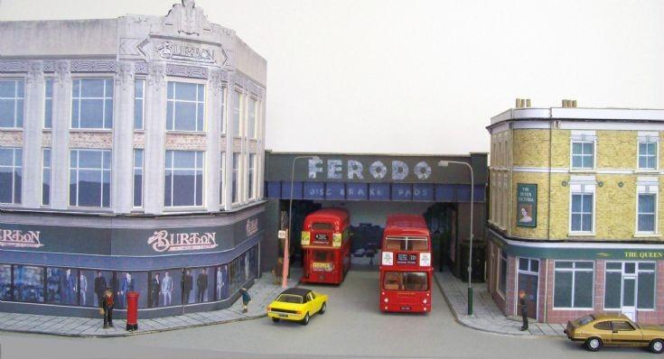 1/76 scale street diorama