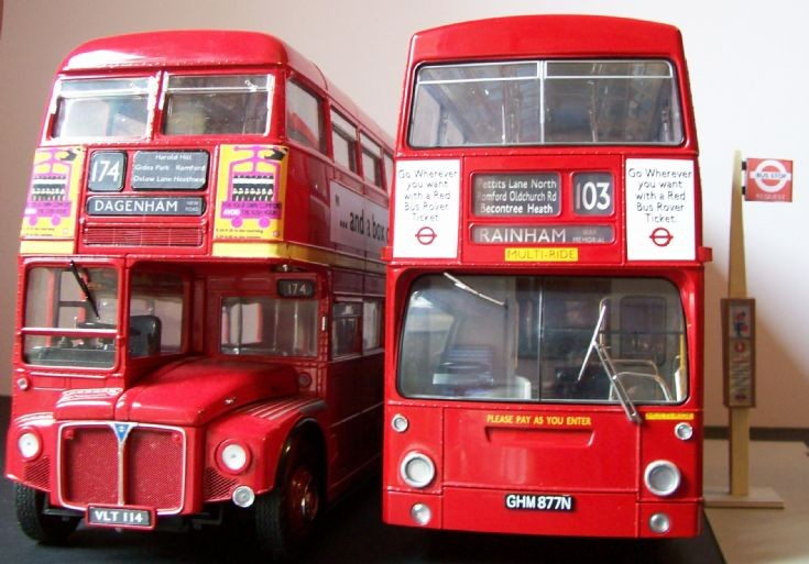 1/24 scale Routemaster and Daimler Fleetline