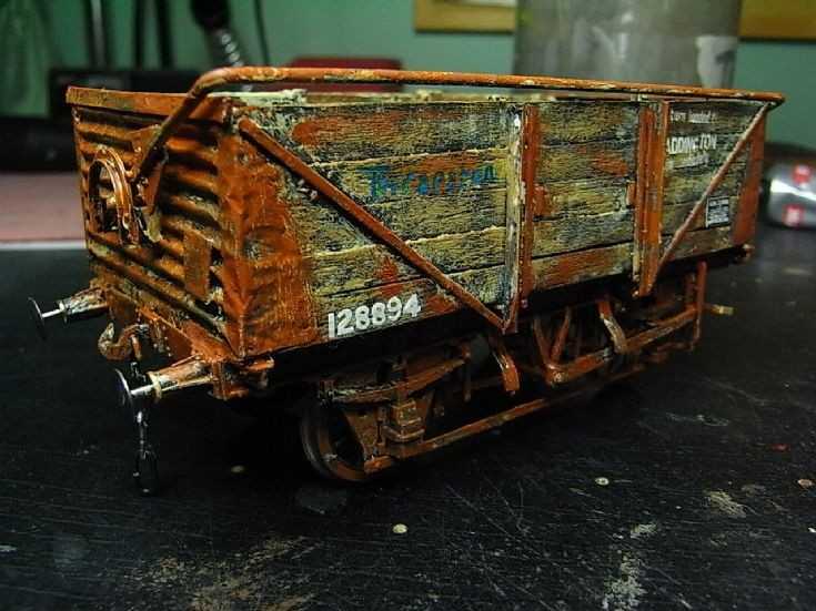 Scratch built Hybar wagon in 7mm scale