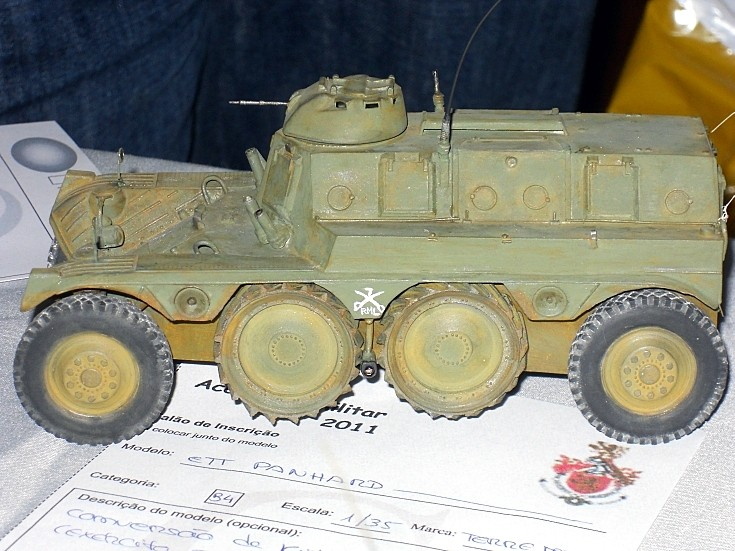 Model of Panhard military vehicle
