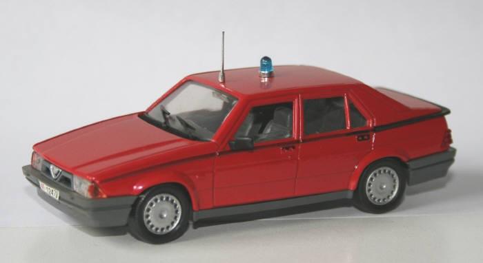 Progetto-K 1/43 Alfa-Romeo 75 vigili del fuoco