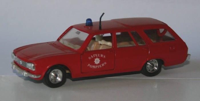 Solido 1/43 Peugeot 504 Break Pompiers