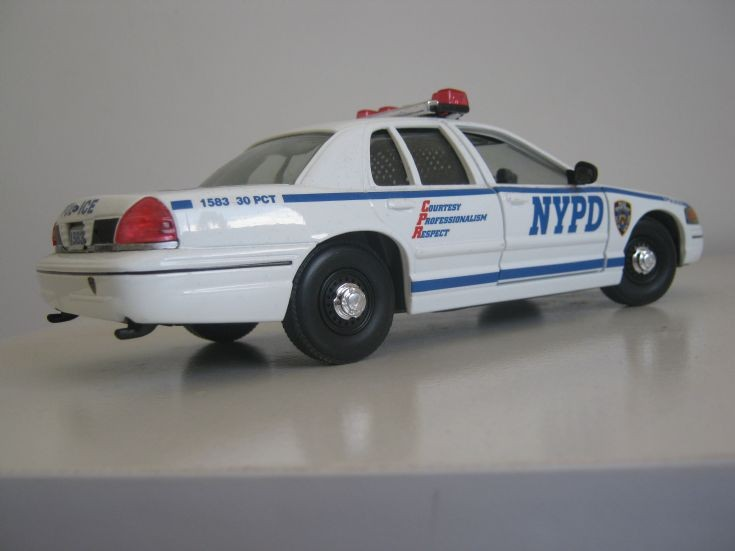 NYPD Ford Crown Victoria back view.