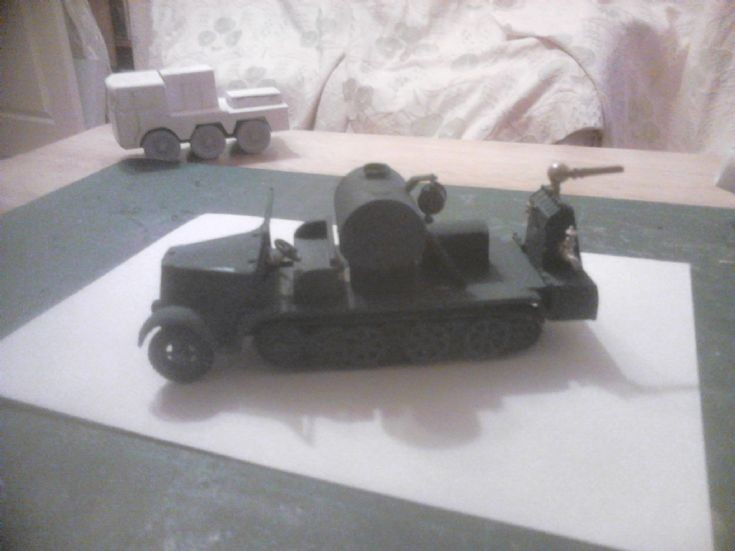 1.76 RAF German half track fire tender