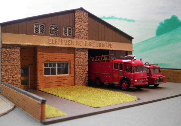 Lesney fire station detailed