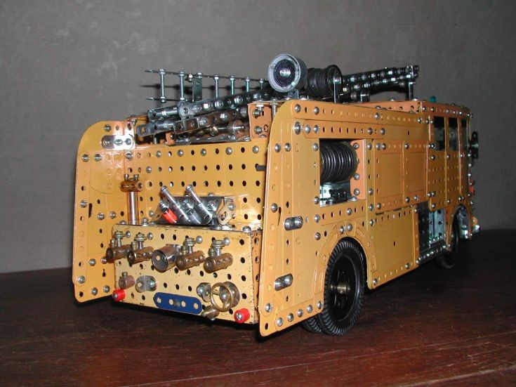 Merryweather Marquis Pump in Meccano - rear