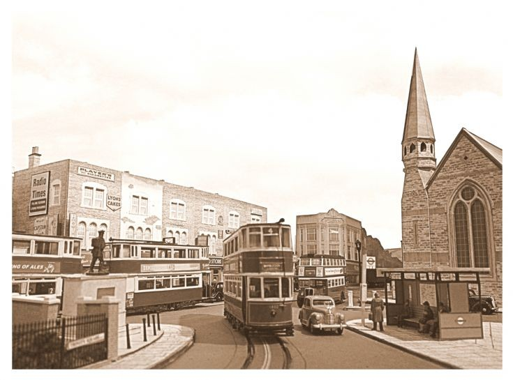 Trams at Trinity Square