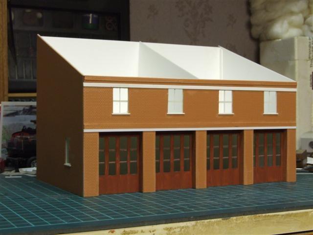 4 Bay Fire Station Model (2)