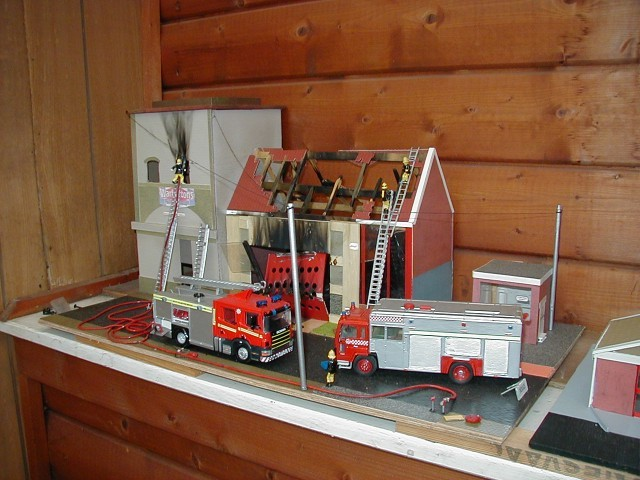John Lloyd Collection - Wales Fire Service Diorama